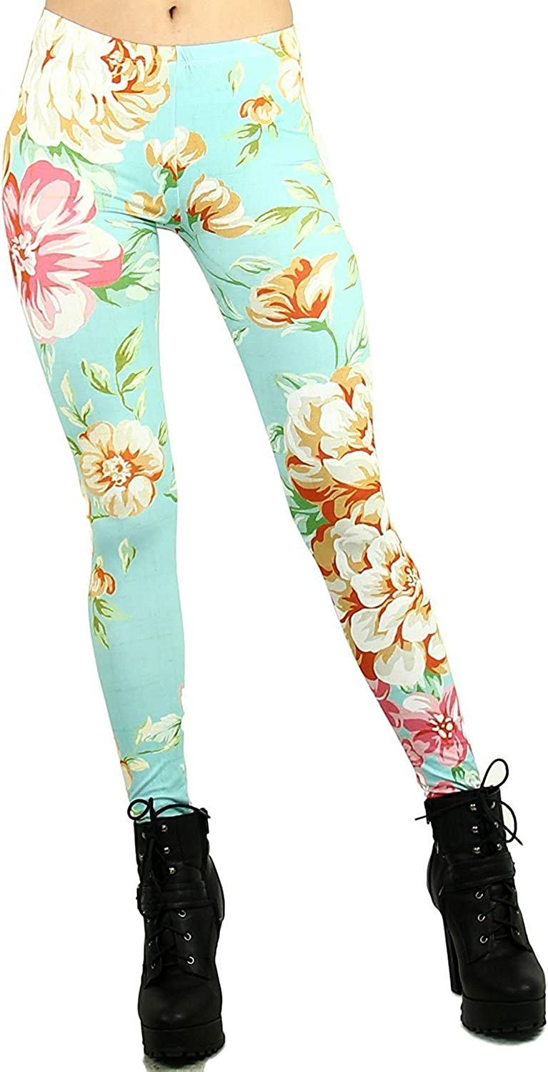 Ranking TOP11 Abyelike Women's Digital Printed Basic Soft Solid Safety and trust Leggings