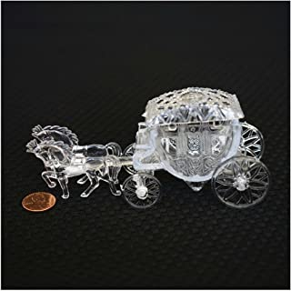 Unbranded Royal Vintage Cinderella Horse and Carriage Coach Cake Topper Clear