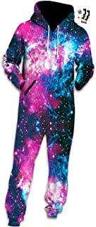 Morbuy Unisex Onesie Hoodie, Adult 3D Print Jumpsuit Stylish Printed One Zip Playsuit Hooded Autumn Warm Pajama Plus Size ...