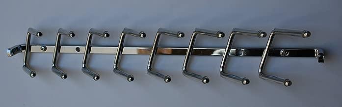 Wall Mounted Tie Rack, 14 Chrome Non-Sliding