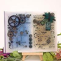 ギアの背景透明なクリアシリコンスタンプ/DIYスクラップブッキング/フォトアルバム用のシール装飾的なクリアスタンプシートA122