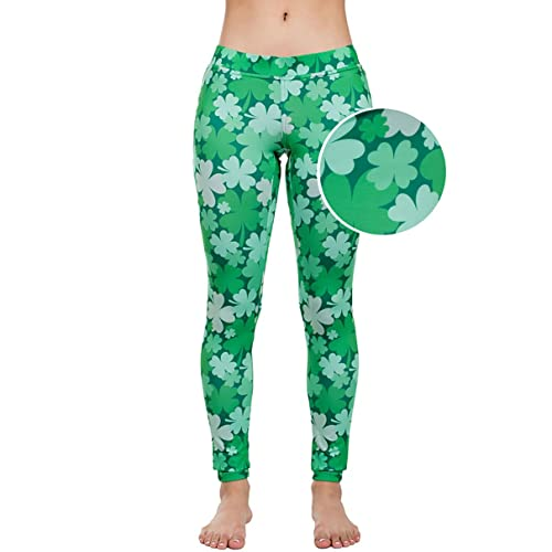 91e4da8a3 Women s Green St. Patrick s Day Leggings - St. Paddy s Day Tights Pants for  Ladies