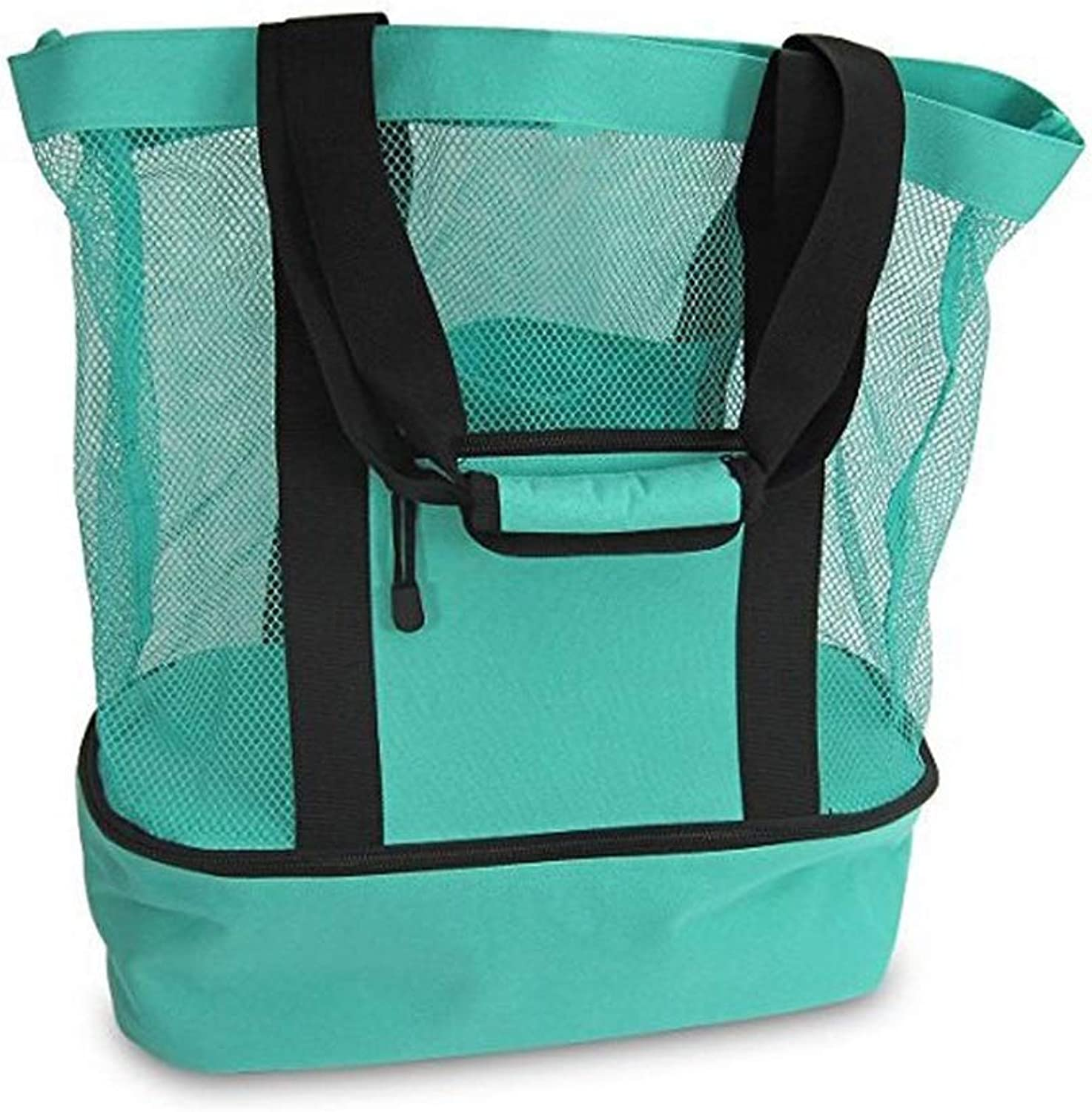 31L Large Portable Cooler Bag, Adult Insulated Lunch Bag Tote for Men and Women Kids, Soft Waterproof Cool Picnic Bag Box for Picnic Camping, Work, 50x41x15cm, Green