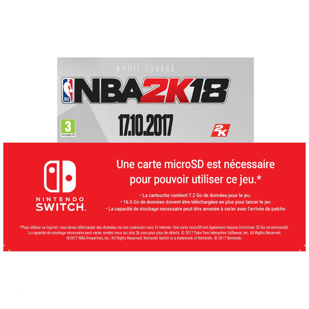 NBA 2K18 Legend Edition Jeu Switch: Amazon.es: Electrónica