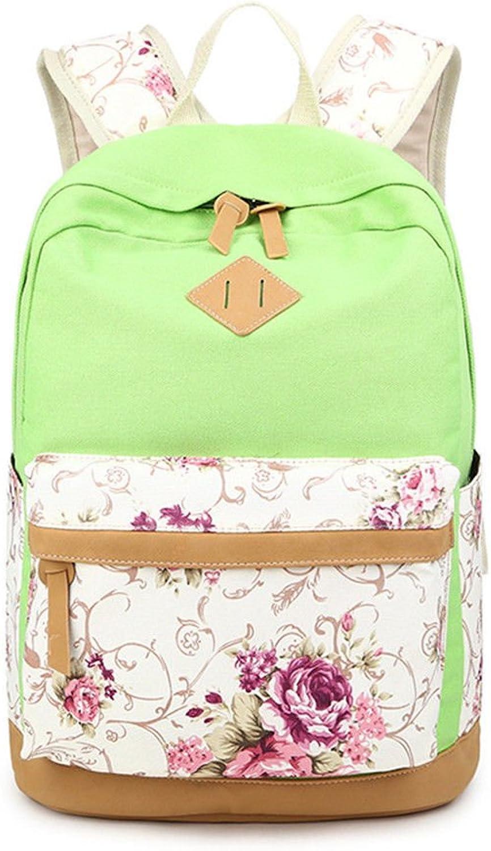 BMKWSG Uni Synthetik Leder Damen Rucksack Multi Taschen grün 412816cm