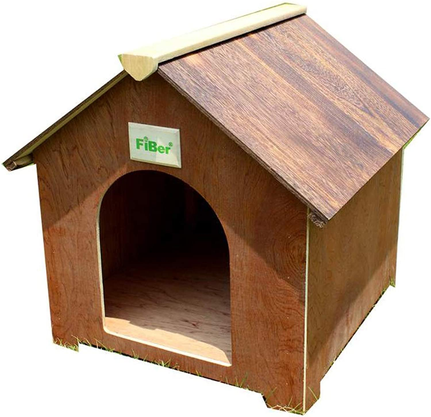 Cages & Pens Pet House Dog House Cat Cage Home Solid Wood Dog Cage Cat House Pet Cage Outdoor Garden Pet Nest Rabbit Nest Load Bearing 15kg (color   Brown, Size   50  50  55cm)