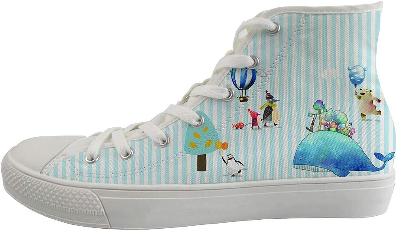 Ohaheson Unisex, tillfälliga skor, klassiska skor, skor Vuxna Vuxna Vuxna tränare Happy Polar Bear Whale Vacation Penguin Mamma och bebis  uppkopplad
