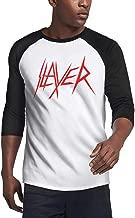 Slayer-Logo-Raining-Blood- T-Shirt for Men Sleeve Raglan Cotton