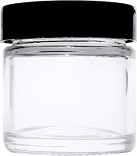 1oz Glass Jars with Lids (15 Pack) - Small Glass Containers for Homemade Beauty&Bath Products By Infinite Containers