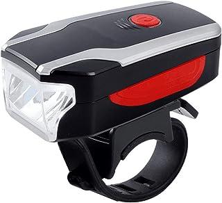 QIAO Luz Bicicleta LED, Luz Delantera Bicicleta Recargable USB, 3 Modos, Impermeable, para Ciclismo Seguridad,Red