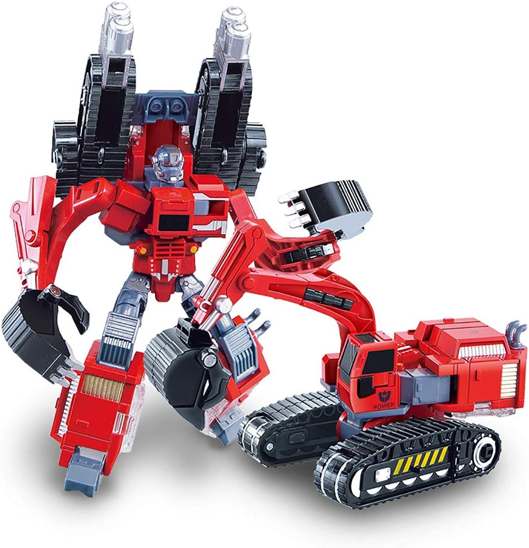 Car Toy Model fit Deformation Toy boy car Robot 6 Years Old boy Gift Excavator