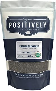 Positively Tea Company, Organic English Breakfast Black Tea, Loose Leaf, 16 oz. Bag