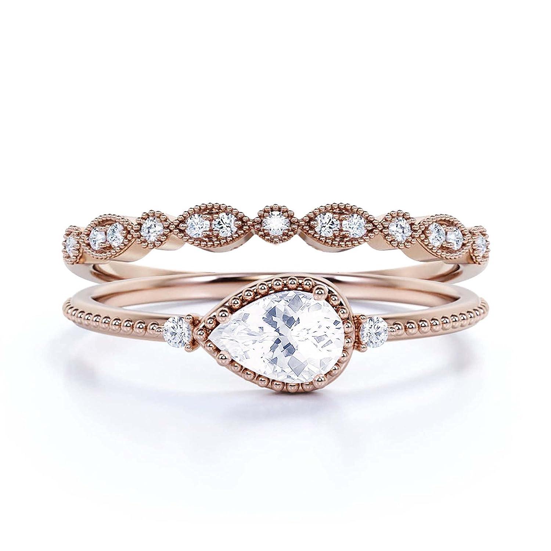 1.60 Carat Super-cheap Pear Cut Diamond 5 ☆ popular Moissanite Engagement Ring Classic