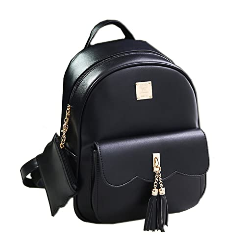4f9407b31741 Black Small Backpack Leather  Amazon.co.uk