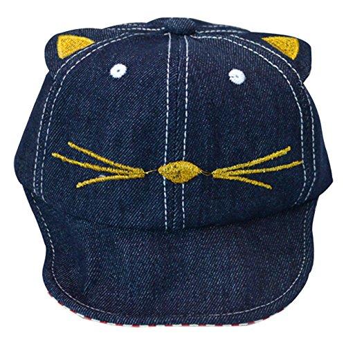Millya Chapeau de soleil en jean pour bébé en forme de chat pour 3-18 mois