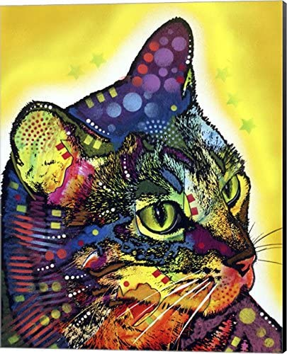 Confident Cat by Dean Russo Canvas Art Wall Picture Museum Wrapped with Black Sides 16 x 20 product image