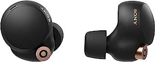 سماعة رأس لاسلكية من سوني موديل WF-1000XM4 بخاصية الغاء ضوضاء فعلية مع علبة شحن، مطورة لتناسب اليكسا ومساعد جوجل، مزودة بم...