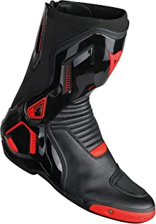 Dainese Course D1 Out Perforated Boots (46) (Black/Fluorescent Red)