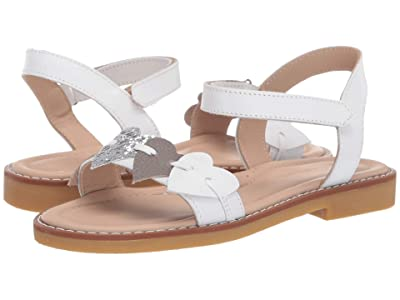 Elephantito Caro Cuore Sandal (Toddler/Little Kid/Big Kid) (White) Girls Shoes