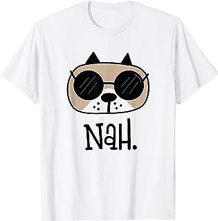 Nan Pas aujourd'hui Drôle de chien Carlin Drôle de garçons T-Shirt