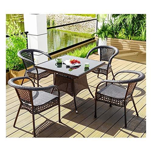 BDBT Outdoor Furniture Ratan Patio Furniture Set Patio Rattan Dining Table Set Wicker Weave Coffee Table Patio Conversation Outdoor