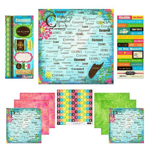 Scrapbook Customs Themed Paper and Stickers Scrapbook Kit, Cozumel Paradise by Scrapbook Customs