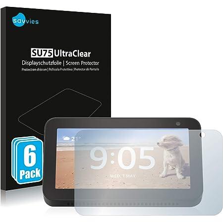 savvies 6-Pezzi Pellicola Protettiva Compatibile con Amazon Echo Show 5 (3a Generazione) Protezione Schermo Trasparente