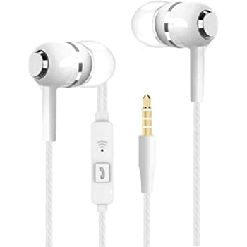 Meyaar SPN 27 in-Ear Wired Earphones with Super Extra Bass, in-line Mic, Inspired Design and Perfect Length Cable for Android & iOS - White