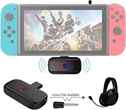 USB C Bluetooth Transmitter Compatible for Nintendo Switch, Wireless Audio Adapter with aptX Low Latency for Wireless Gaming Headphones etc.