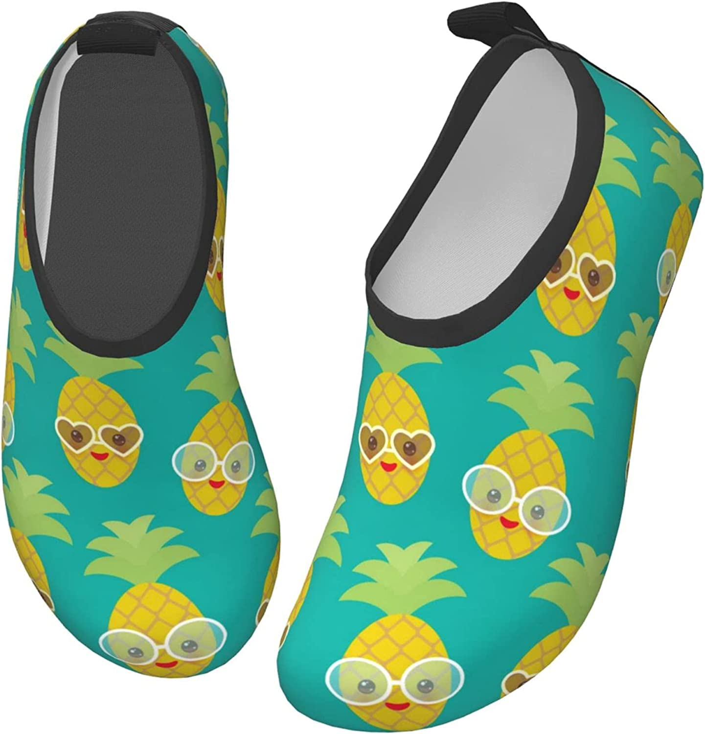 Fairy UMI Pineapple with Sunglasses Toddler Water Shoes Non-Slip Aqua Sports Shoes Barefoot Swim Shoes Beach Surf for Boys Girls