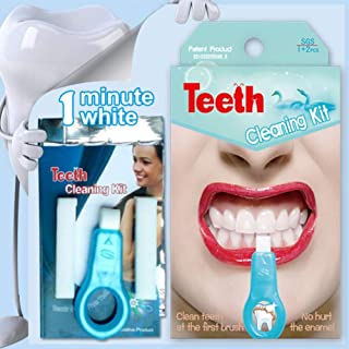 Natural Teeth Whitener Kit,Taykoo Pro Nano Teeth Whitening System Tool(1 clean toothbrush + 2 nano-clean bars)