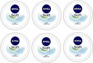 NIVEA Soft, Light Moisturising Cream- 50ml Each (Pack Of 6)