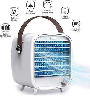 POIUYT Mejor Aire Acondicionado Portatil4 En 1 Aire Acondicionado USB3 Velocidades Y LED Luz Nocturna Bajo Consumo para Hogar Oficina Y Coche