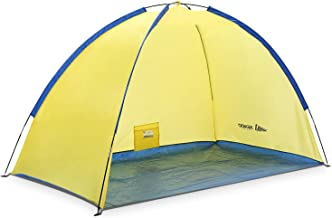 SEMOO Beach Tent Beach Sun Shelter Anti-UV Portable Sunshade Tent for Outdoor Activities Beach Traveling Family Adults.
