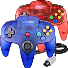 $25 » King Smart Wired N64 Controller,Upgrade Joystick Gamepad Controller for Original Nintendo 64 Console (Sapphire Blue and Cl...