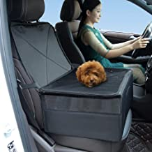 MESIMME Portable Pet Carrier Booster Seat Folding Fabric Multiple Purpose Storage Bag Car Front Seat Cover for Pets
