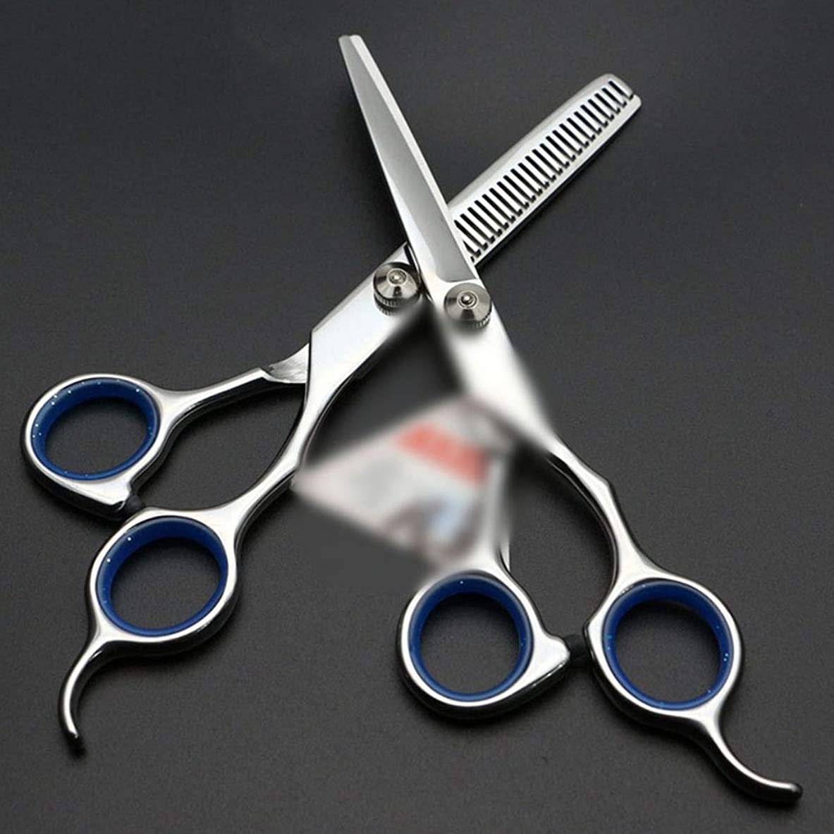 散らす通知足6インチ美容院プロフェッショナル理髪はさみセット モデリングツール (色 : 青)