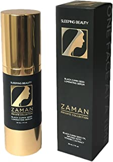 Zaman Skincare Night Face Cream, Sleeping Beauty Anti-Aging Face Serum, Best Black Cumin Seed Oil & Vitamin C Serum for Women, All Natural Organic Face Moisturizer for Pore, Age Spots, Wrinkle Reducer