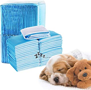 BestEasy-life 100PCS Pet Dog Diapers Disposable Heavy Absorbency Underpads Pet Dog Training Urine Pad Diapers for Dogs Cle...