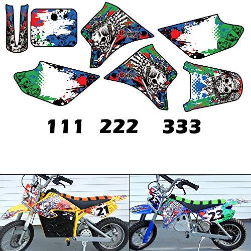 Burly Effects Graphics kit for Razor MX350 MX400 MX500 MX650 Electric Dirt Bikes (MX350 & MX400)