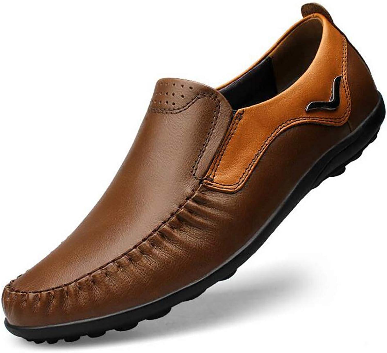Leather shoes Men's shoes New Soft Driving Men's Leather shoes Leather Men's shoes (color   B, Size   39)