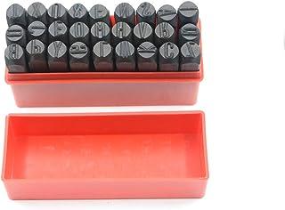 Marca acero sellos perforadora de mano Metal Set letras Alfabeto y números Die Herramienta Craft en