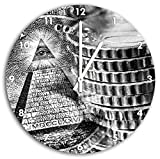 Stil.Zeit Monocrome, Illuminati Pyramide, Black and White,