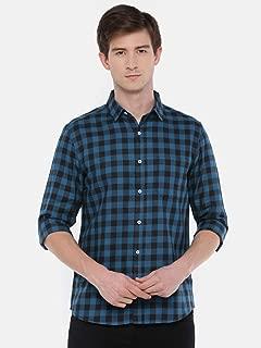 Chennis Men's Teal Casual Shirt