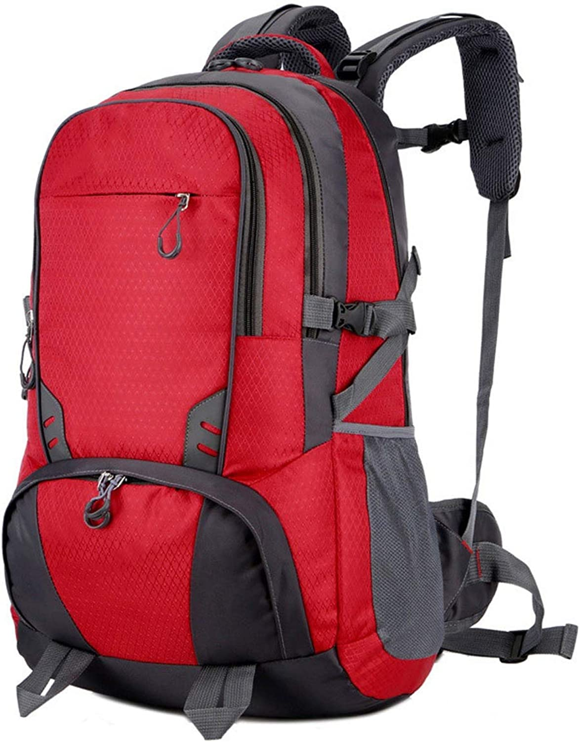 RMXMY Fashion Casual Nylon Lightweight Backpack Travel Backpack Large Capacity Personality Creative Simple Hiking Waterproof ScratchResistant Practical Backpack (color   RED)