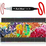 80 Colors alcohol markers, Dual-Tip Alcohol Based Art Markers, 2021Premium brush markers, ProaStar Alcohol-Based Sketch Markers for Painting, Coloring, Sketching, and Drawing for Father's Day