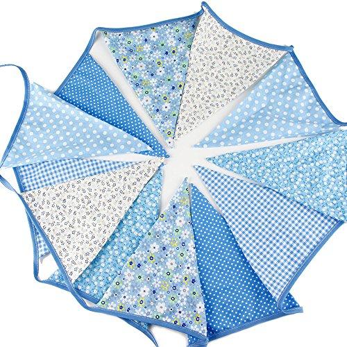G2PLUS 12 Extra Wimpel Girlande Süße Bunting Wimpelkette Farbenfroh Wimpeln für Drauße