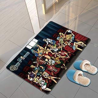 地毯 可洗 小地毯 玄关地垫 厨房 入门 阳台 出窗 国旗 海贼王 One Piece ワンピース 复古 古典 客厅 卧室 洗手间 浴室 大尺寸-120X160CM-A_60x90cm