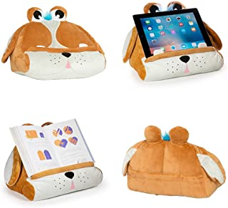 Cuddly Readers Book iPad Tablet Holder Novelty eReader Rest Sofa Pillow Stand Gift Idea (Puppy Pete)