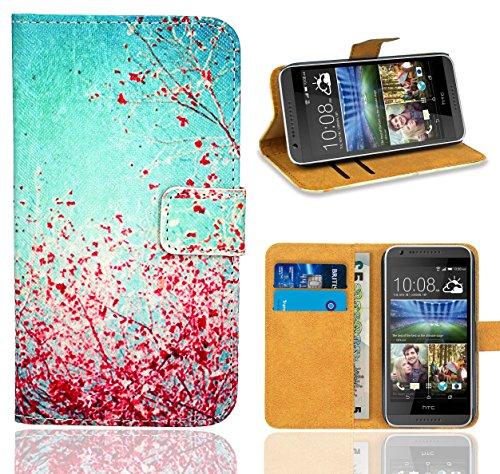 HTC Desire 620 Handy Tasche, FoneExpert® Wallet Hülle Flip Cover Hüllen Etui Ledertasche Lederhülle Premium Schutzhülle für HTC Desire 620 (Pattern 3)